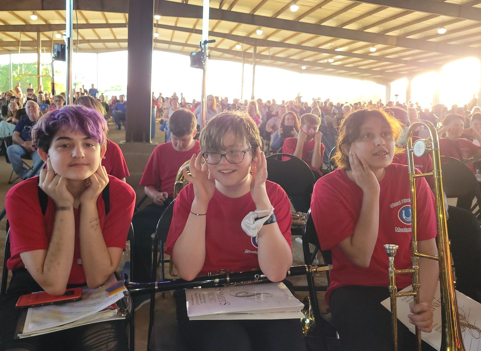 Shoal River Middle School band students await their time to perform the spring concert