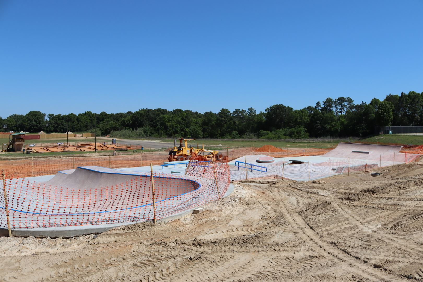 The Crestview Eglin Federal Credit Union Skatepark nears completion.